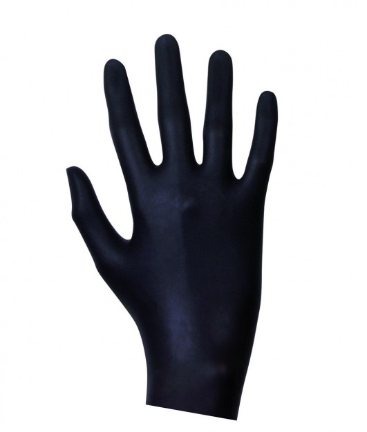 Latex Examination Gloves Black 20 pcs