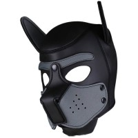 Neoprene Puppy Hood Grey-Black