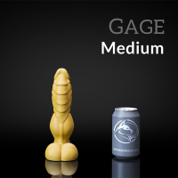Weredog Gage Dragon Dildo Jet/Evergreen Marbled Medium
