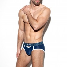 ES Collection UN321 Double Opening Mesh Brief Navy