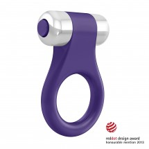 OVO B1 Vibrating Ring Lilac Chrome