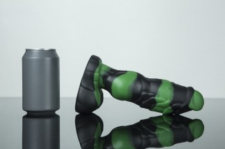 Weredog Gage Dragon Dildo Jet/Evergreen Marbled Medium