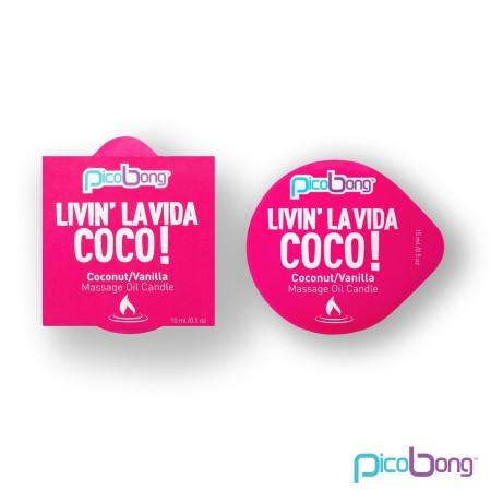 PicoBong Livin' La Vida Coco! Massage Candle 15 ml