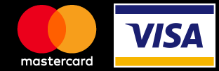 We accept Mastercard and Visa cards